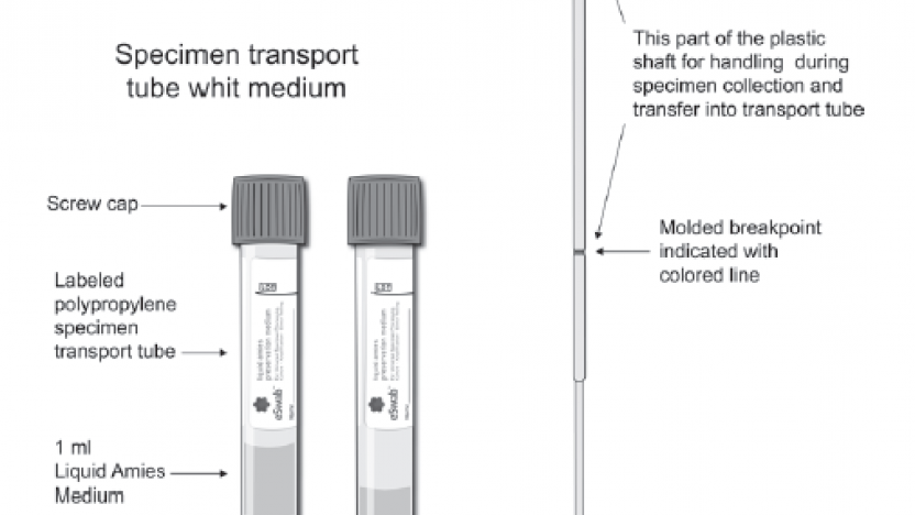 Afbeelding Eswab transportmedium en collection swab